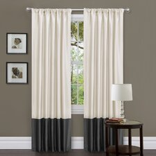 Milione Fiori Rod Pocket Curtain Panel Pair with Tiebacks