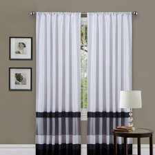 Iman Rod Pocket Curtain Single Panel with Tieback