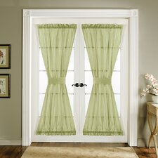 Sonora Rod Pocket Curtain Panel Pair with Tiebacks