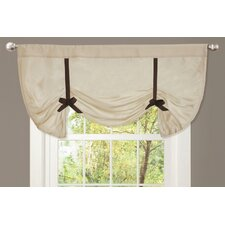 Lydia Rod Pocket Tie-Up Curtain Valance