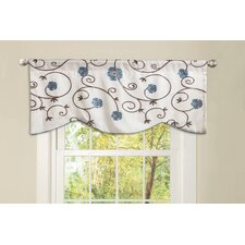 Royal Garden Rod Pocket Scalloped Curtain Valance