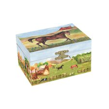 Country Horse Treasure Music Box
