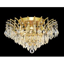 Victoria 6 Light Semi Flush Mount