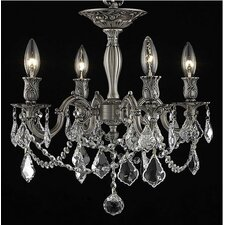 Rosalia 4 Light Ceiling Chandelier