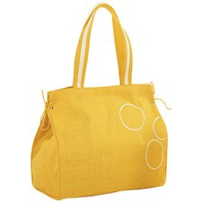 Natural Amber Jute Carry Tote Bag