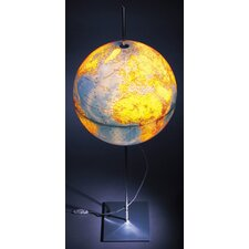Globe Earth Lamp with German Lettering