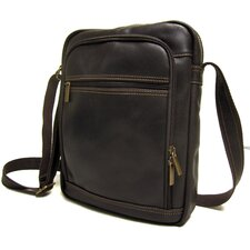 Distressed Leather iPad/E-Reader Day Bag