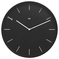 Modernist Steel Wall Clock Ten in Black