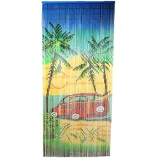 Natrual Bamboo Woody Car Scene Curtain Single Panel