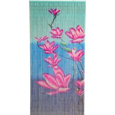 Natrual Bamboo Multiple Flower Curtain Single Panel