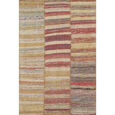 Kilim Multi-Colored Striped Rug
