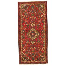 Kourd Red Floral Medallion Rug