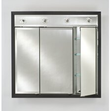 Signature Triple Door Medicine Cabinet with Lights