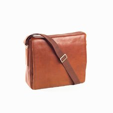 Tuscan Square Messenger Bag in Tan