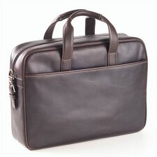 Tuscan Top Handle Briefcase in Café