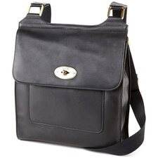 Leather Flap Turnlock Crossbody