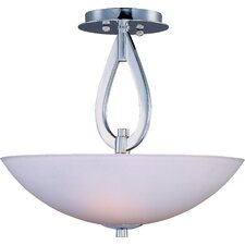 Rain Drop 3 Light Semi Flush Mount