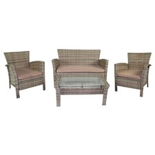 4 Piece Bench Seating Group
