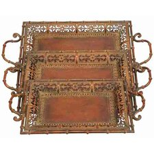 Toscana Chic Metal Serving Trays (Set of 3)