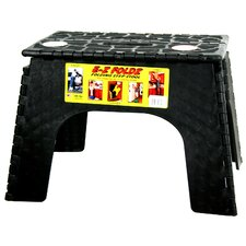 "12"" EZ Folds Folding Step Stool in Black"