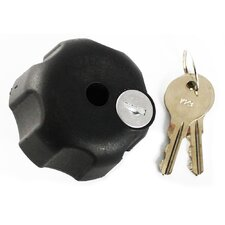 "Locking Knob with 1/4""-20 Brass Hole for B Size Arms"