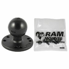 "2.5"" Round Base with AMPs Hole Pattern, 1.5"" Ball and Hardware for the Garmin Echo 200, 500c, 550c"
