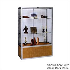 No. 335/B Freestanding Display Case with Oak Back Panel