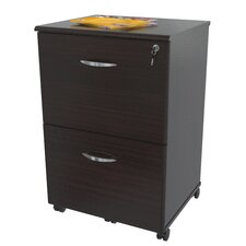 Double Drawer Mobile File in Espresso Wenge