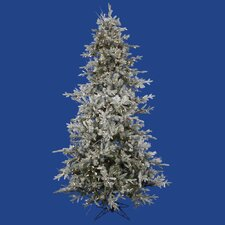 Frosted Wistler Fir 9' Green Artificial Christmas Tree with 1200 Clear Lights with Rolling Stand