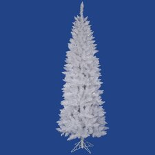 "Crystal White Spruce Pencil 7' 6"" Artificial Christmas Tree with Stand"