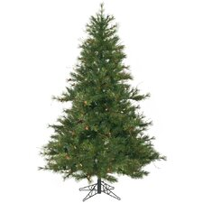 "Mixed Country Pine 6' 6"" Green Artificial Christmas Tree with Stand"