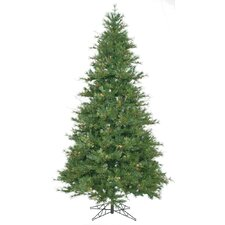 "Mixed Country Pine 7' 6"" Green Slim Artificial Christmas Tree with Stand"
