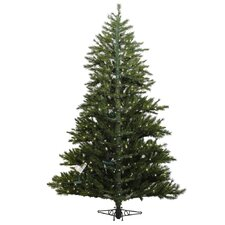 "Minnesota Pine Westbrook 7' 6"" Green Artificial Half Christmas Tree with 500 Clear Lights with Stand"