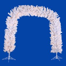 Crystal White 8' Artificial Arch Tree with Clear Lights