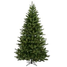 "Black Hills Spruce 6' 6"" Green Artificial Christmas Tree with 500 Clear Lights with Stand"