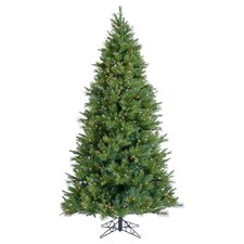 "Butte Mixed Pine 7' 6"" Green Artificial Christmas Tree with 850 Clear Lights with Stand"