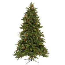 "Shoreline Mixed Pine 7' 6"" Green Artificial Christmas Tree with 550 Clear Dura-Lit Mini Lights with Stand"
