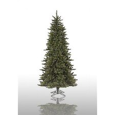 "Camdon Fir 7' 6"" Green Artificial Christmas Tree with 700 Pre-Lit Clear Lights with Stand with Stand"