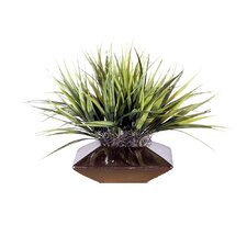 Floral Artificial Potted Short Grass in Green