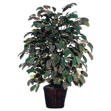 Deluxe 4' Artificial Potted Natural Apple Tree in Multicolor