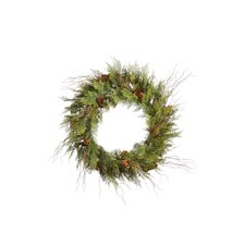 Cedar Twig Pine Cone Wreath with 110 Tips