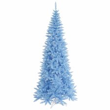 "5' 6"" Sky Blue Slim Fir Artificial Christmas Tree with 300 Mini Lights"