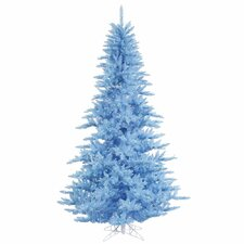 "5' 6"" Sky Blue Fir Artificial Christmas Tree with 400 Mini Lights"