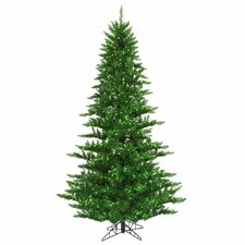 "4' 6"" Tinsel Green Fir Artificial Christmas Tree with 250 Mini Lights"
