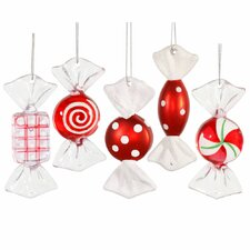 Candy Cane Ornament (Set of 5)