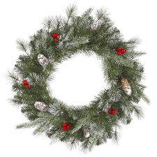 Frosted Pine Berry Wreath with 102 Tips