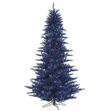 "4' 6"" Navy Blue Fir Artificial Christmas Tree with 250 Mini Lights"