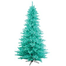 "4' 6"" Aqua Fir Artificial Christmas Tree with 250 Mini Lights"