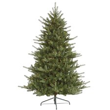 "Colorado 7' 6"" Green Spruce Artificial Christmas Tree with 700 Dura-Lit Clear Lights with Stand"