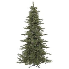 "Austrian 7' 6"" Green Fir Slim Artificial Christmas Tree with Stand"